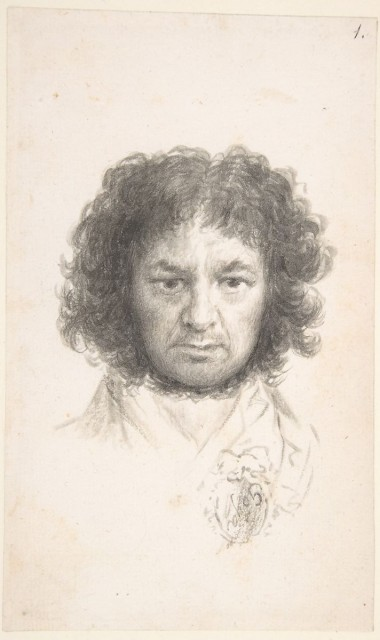 Francisco Goya (1746-1828), Self-portrait, c. 1796, brush and ink on paper, MET, New York