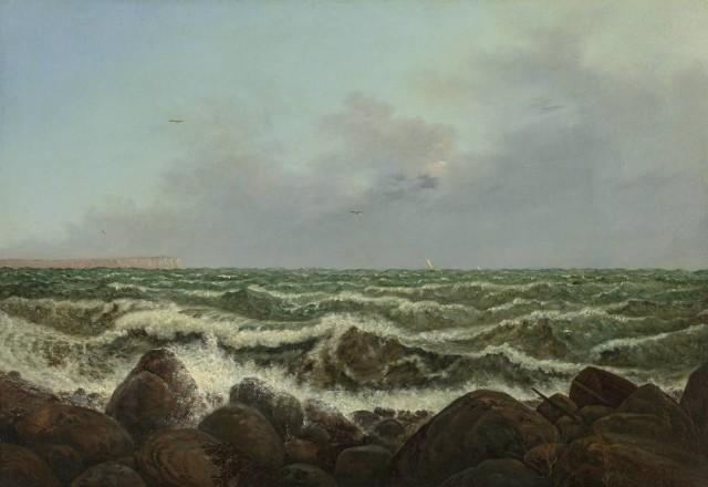 Carl Gustav Carus (1789-1869), Brandung bei Rügen, 1819, oil on canvas,64,5 x 93,5 cm, SKD Albertinum Dresden