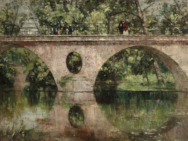 Christian Rohlfs (1849-1938), Sternebrücke in Weimar, 1892, oil on canvas, Schleswig Holsteinisches Landesmuseum