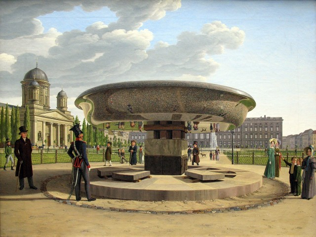 Johann Erdmann Hummel (1769- 1852), The Granite Dish in the Berlin Lustgarten, 1831, oil on canvas, 66 x 89 cm, Alte Nationalgalerie Berlin