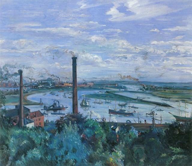 Lovis Corinth (1858-1925), Blick auf den Köhlbrand, 1911, oil on canvas, 114,5 x 135 cm, Hamburger Kunsthalle