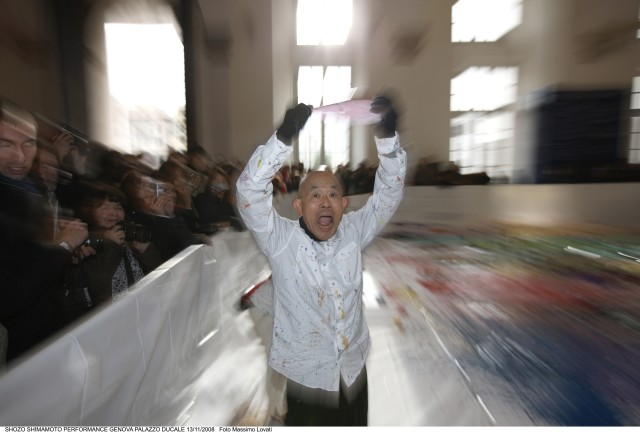 Shozo Shimamoto | PERFORMANCE PALAZZO DUCALE, Organized by ABC-ARTE and Antonio Borghese