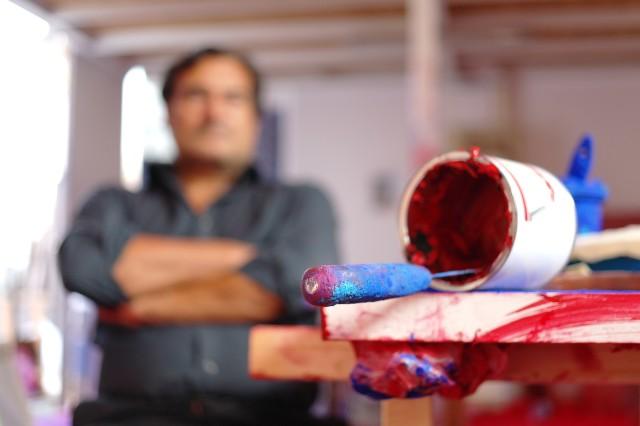 Marcello Lo giudice nel suo studio 2011, ABC-ARTE