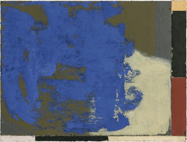 Luca Serra, Almocaizar, 2017, 57 x 76 cm, calco in resina acrilica di pigmenti e polveri su tela