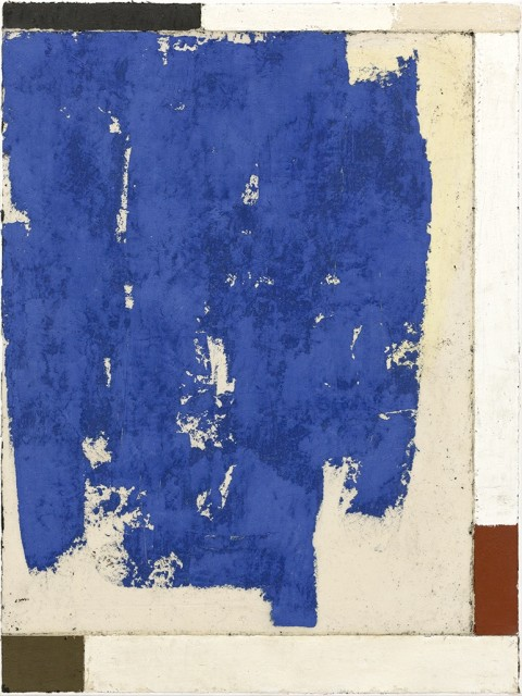 Luca Serra, Añil 933, 2017, 80 x 60 cm, calco in resina acrilica di pigmenti e polveri su tela