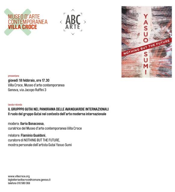 Il Gruppo Gutai nel Panorama delle avanguardie internazionali, Tavola rotonda | Museo di Villa Croce Genova