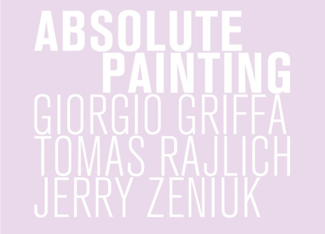 Absolute Painting. Giorgio Griffa, Tomas Rajlich and Jerry Zeniuk, Group show with Griffa, Rajlich and Zeniuk in ABC-ARTE
