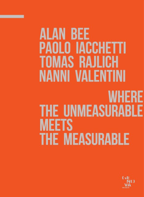 Where the unmeasurable meets the measurable, copertina del catalogo