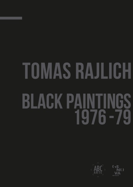 Tomas Rajlich: Black Paintings 1976-79, catalogue cover
