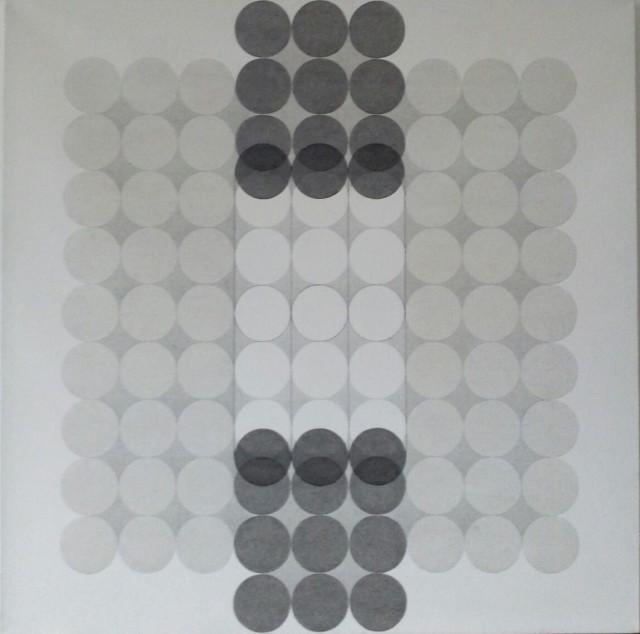 Carlo Nangeroni Mutuazioni per scorrimento, 1971 acrylic on canvas 100 x 100 cm