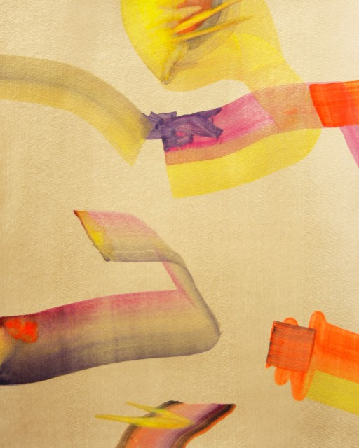 Isabella Nazzarri, Disposizione armoniosa di un caos, 2017, 40,5x50 cm, watercolor on paper