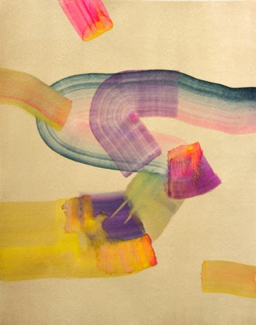 Isabella Nazzarri, Manuale per anime rotanti, 2017, 40,5x50 cm, watercolor on paper