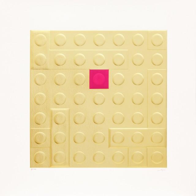 Matteo Negri, L'EgoMondrian, 2016, 50x50cm, calcographic print on cotton paper