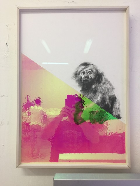 Matteo Negri, Senza titolo, 2017, 55x76cm, charcoal on cotton paper on t-bond