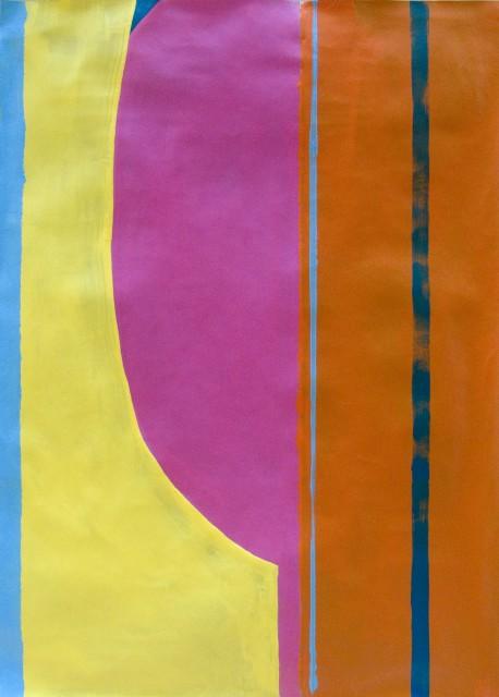 Giulio Zanet, Senza titolo, 2017, 70x50cm, emanel on paper