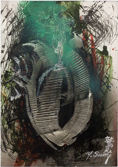 Yasuo Sumi, Untitled, 2010, 54x38cm, mixed media on paper