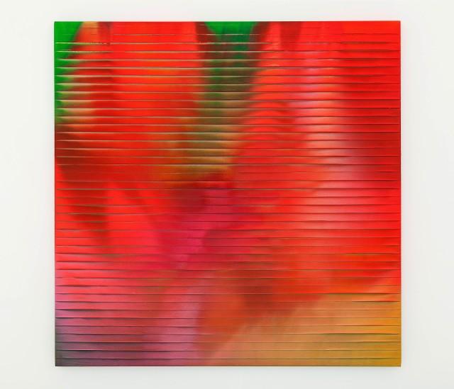 Discesa emotiva 2014 Acrylic on pape tape 120 x1 20cm