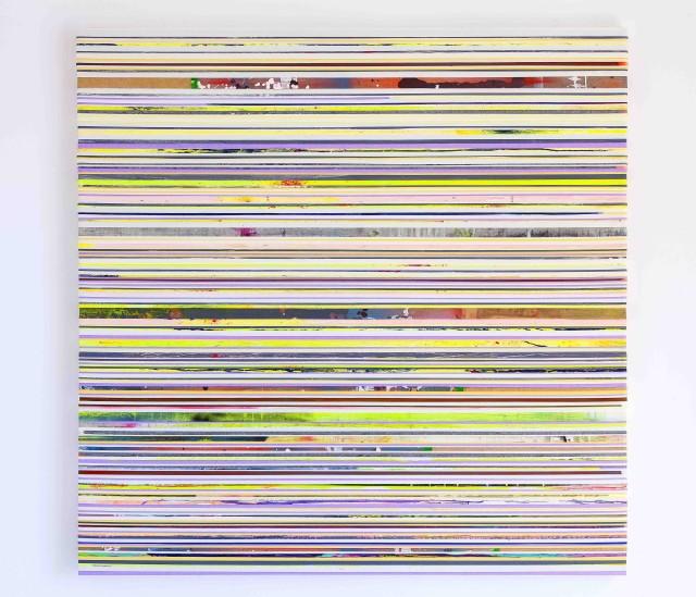 Grande Eden 2016 Acrylic on paper tape on canvas 150 x 151cm