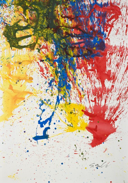 Shozo Shimamoto, 2007, Performance in China 04, 205 x 140 cm, acrylic on canvas