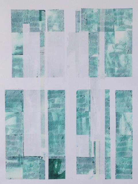 Viviana Valla, Backlight, 2017, 45x35cm, mixed media on paper