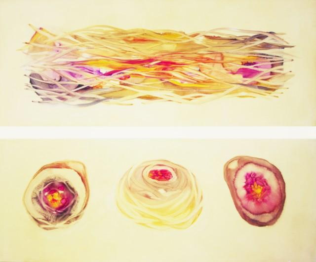 Sistema Innaturale 31 (triptych) oil on canvas 120x100 cm 2016