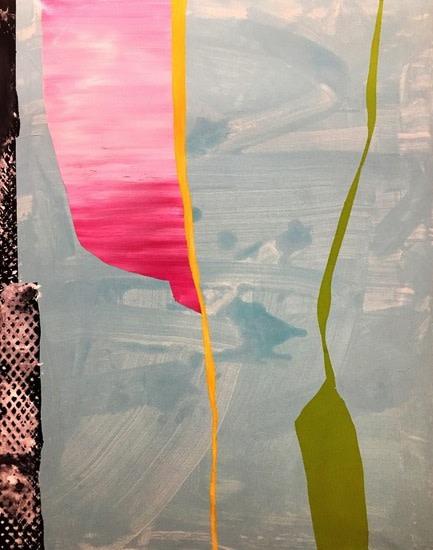 Giulio Zanet, Senza Titolo 2016, 90 x 70cm smalto a acrillico su tela