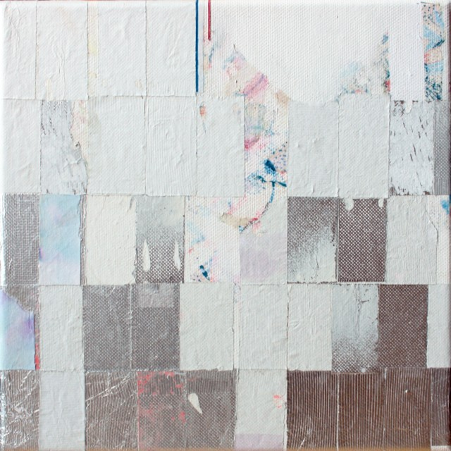 Viviana Valla, Quietly Dissovled 2015, 20 x 20cm, mixed media on canvas