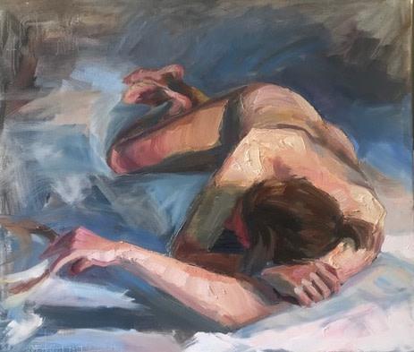Tin Odescalchi  Nude Lying down