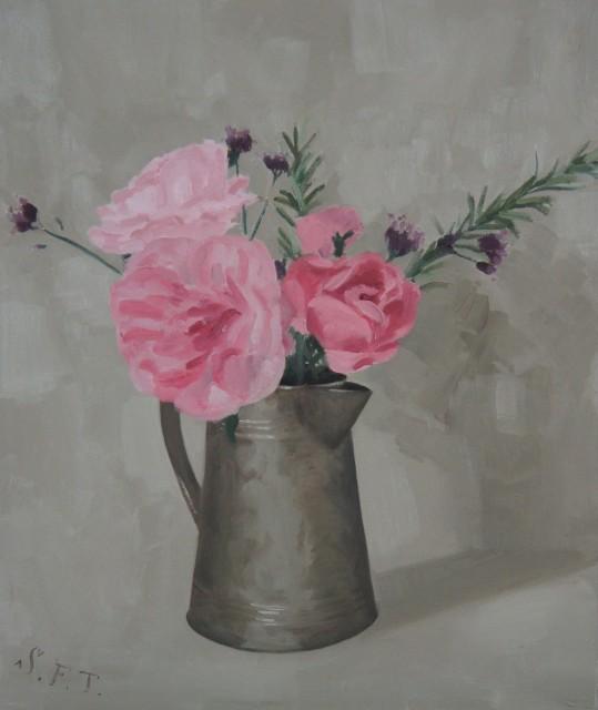 Flowers in Coffee Jug