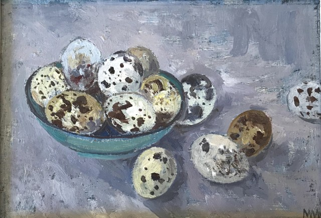Muriel Mallows , Quails Eggs in Bowl, 2019