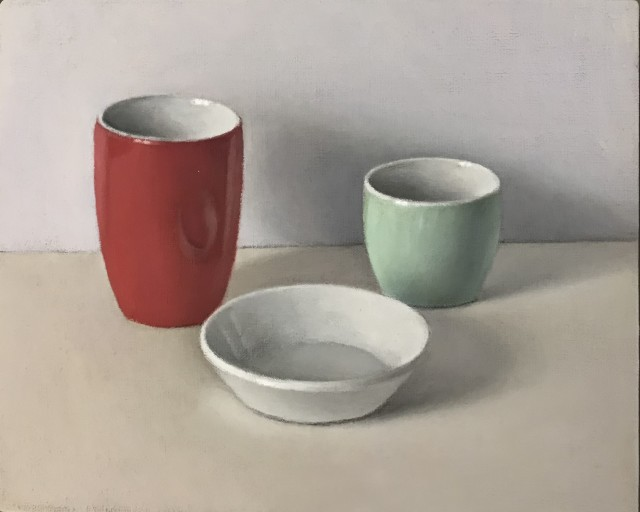 David Stubbs, Red, White And Green On Pink And Blue