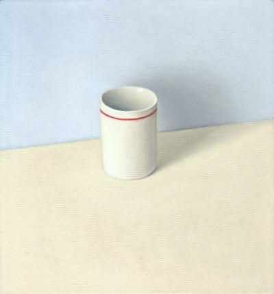 David Stubbs, White And Red On Cream And Blue