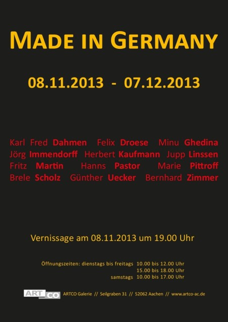 MADE IN GERMANY, Group show
