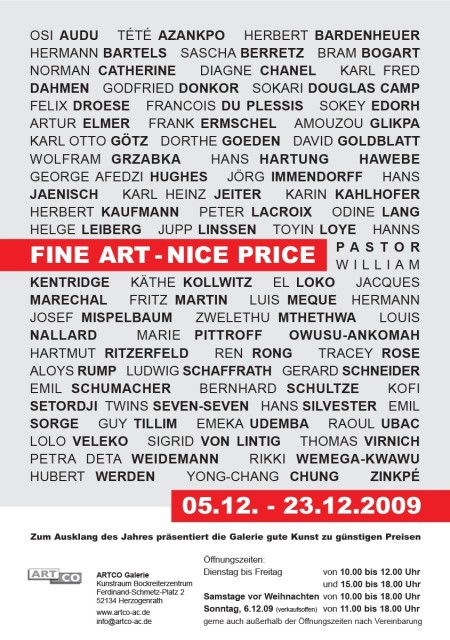 FINE ART - NICE PRICE, Group exhibition