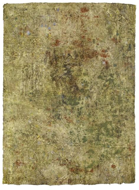 Bernhard Zimmer Palimpseste, 2013 136 x 98 cm Mischtechnik auf handgeschöpftem Papier