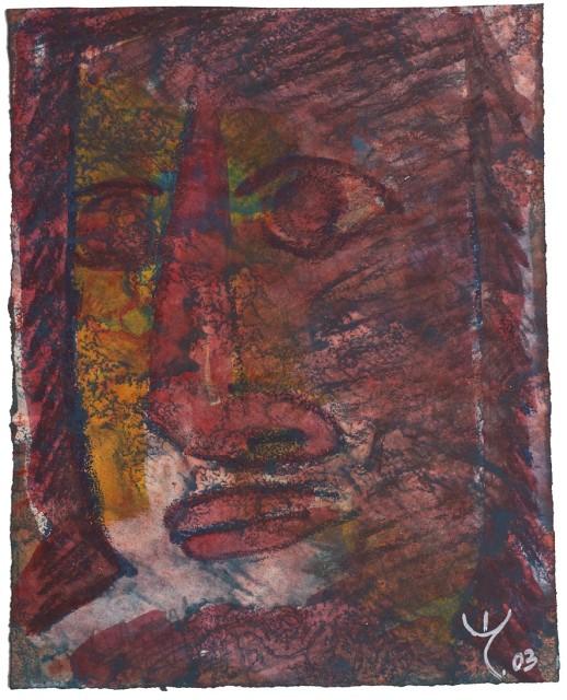 EL LOKO WG SI AME 27, 2003 Bleistift, Pigmente auf Papier, 32x26 cm
