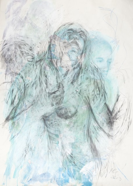 Minu Ghedina Ohne Titel, 2014, 100x70 cm, Mischtechnik auf Papier