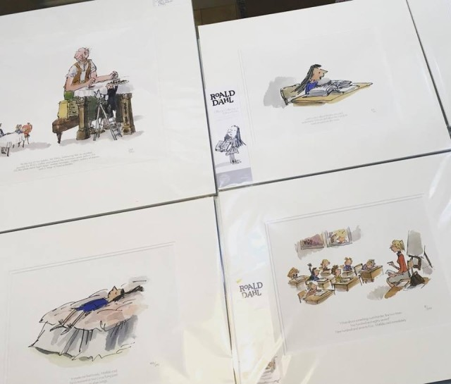 Selected Quentin Blake/Roald Dahl prints available.