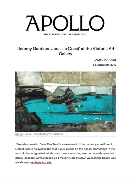 Jeremy Gardiner - Jurassic Coast at the Victoria Art Gallery