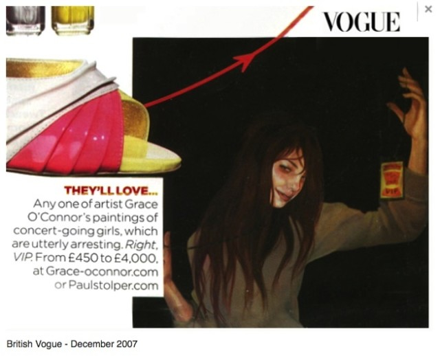 Pick up a copy of British Vogue to catch up with Grace O'Connor