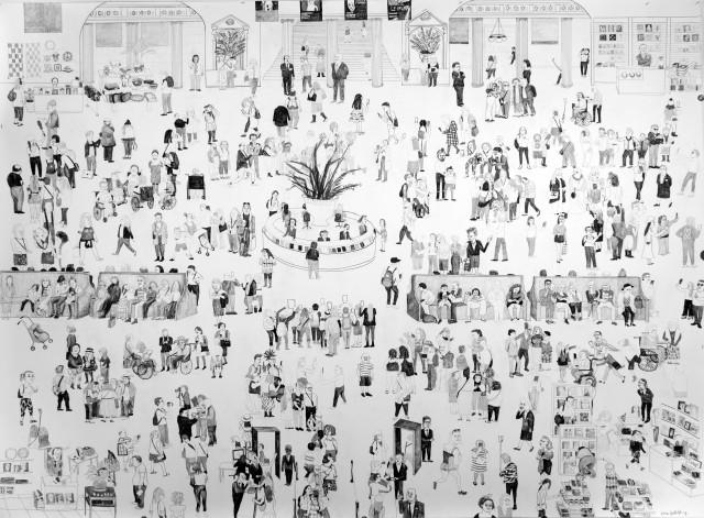 黄海欣   The MET #2   2016   纸上铅笔   152.4 x 228.6 cm