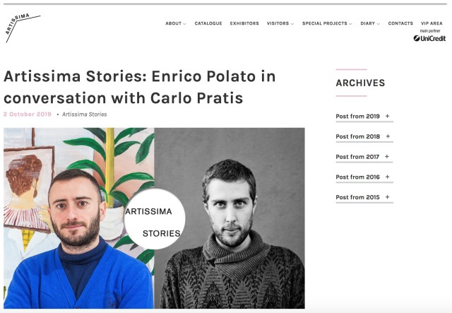 Artissima Stories | Enrico Polato in Conversation with Carlo Pratis