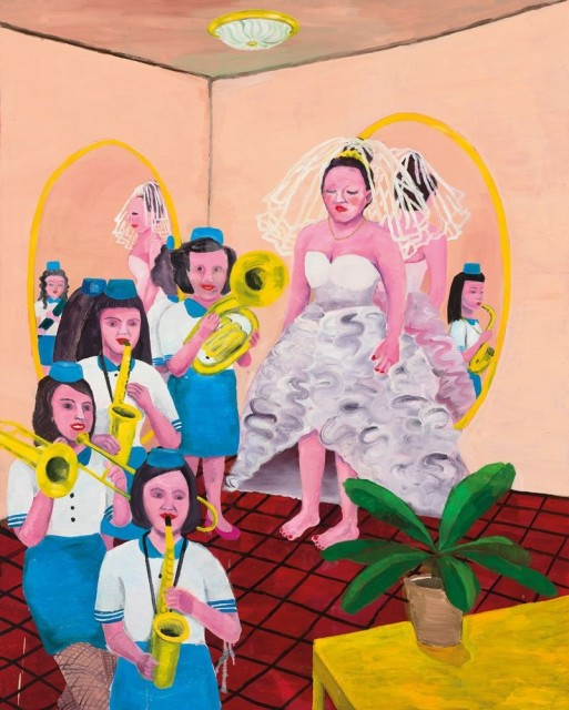 Huang Hai-Hsin | Bride and Her Marching Band | 2012 | oil on canvas | 203 x 163 cm