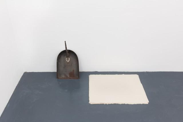 <p></p><p>AKassen<br /><i>Paper Works (Shovel)</i><span>, 2014</span><br /><span>Stack of paper, iron</span></p>