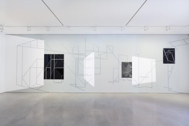 <p>&#160;</p><p>Justin Hibbs<br /><i>Assembly Room</i><span>, 2014</span><br /><span>Vinyl adhesive and emulsion on wall</span></p>
