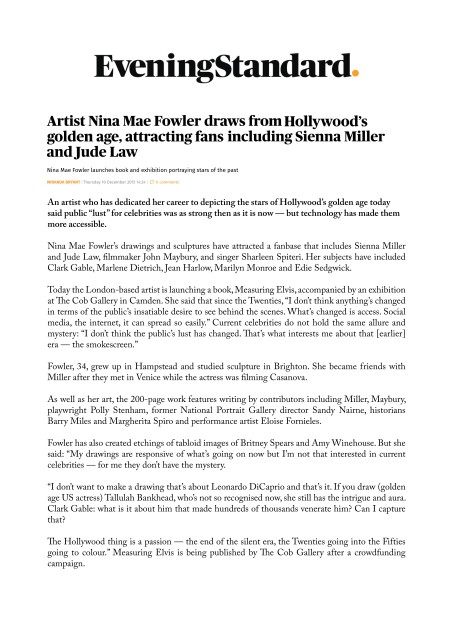 Artist Nina Mae Fowler draws from Hollywood's golden age