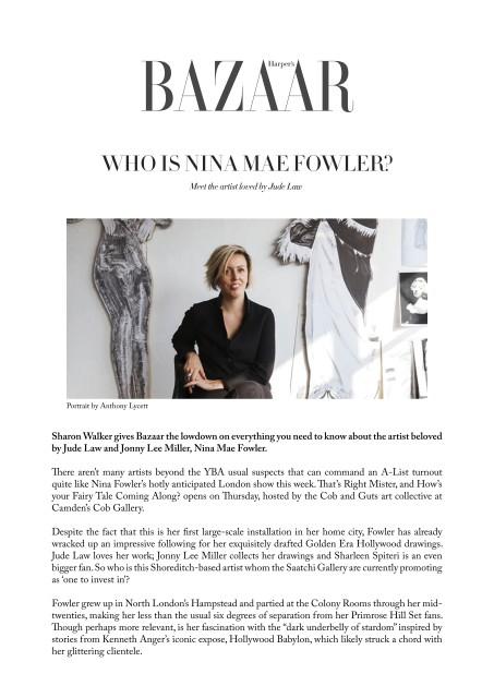 Who is Nina Mae Fowler?