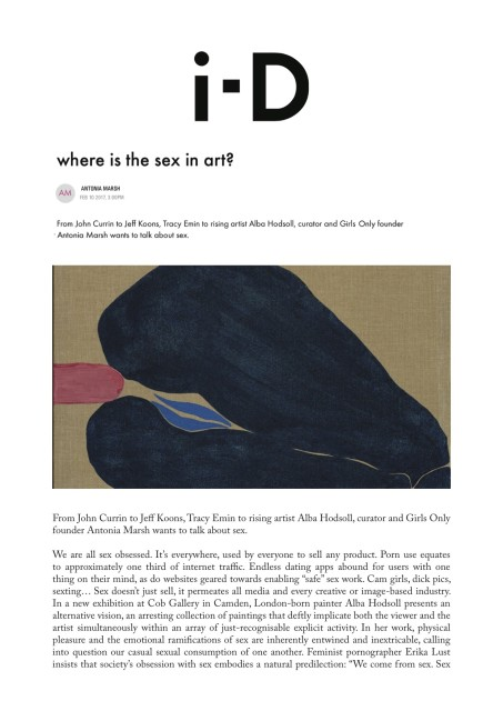 Where is the sex in art?
