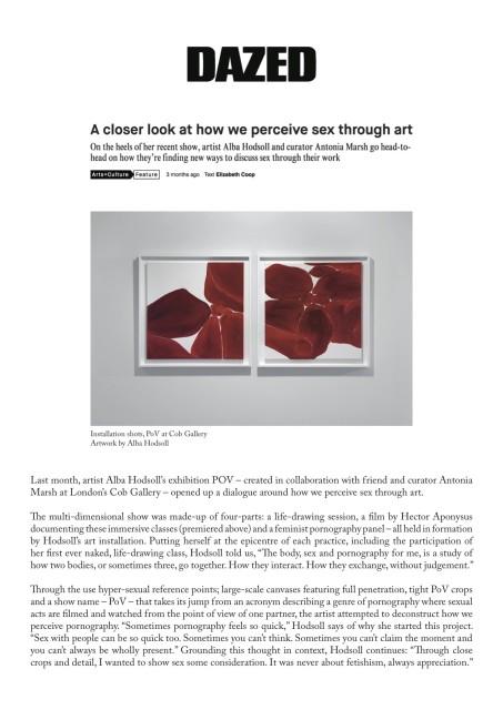 A closer look at how we perceive sex through art