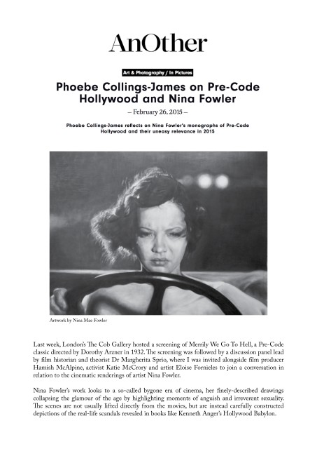Phoebe Collings-James on Pre-Code Hollywood and Nina Fowler
